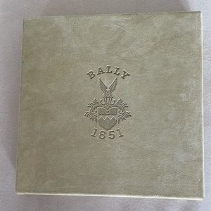 Bally suede cream lid empty gift box